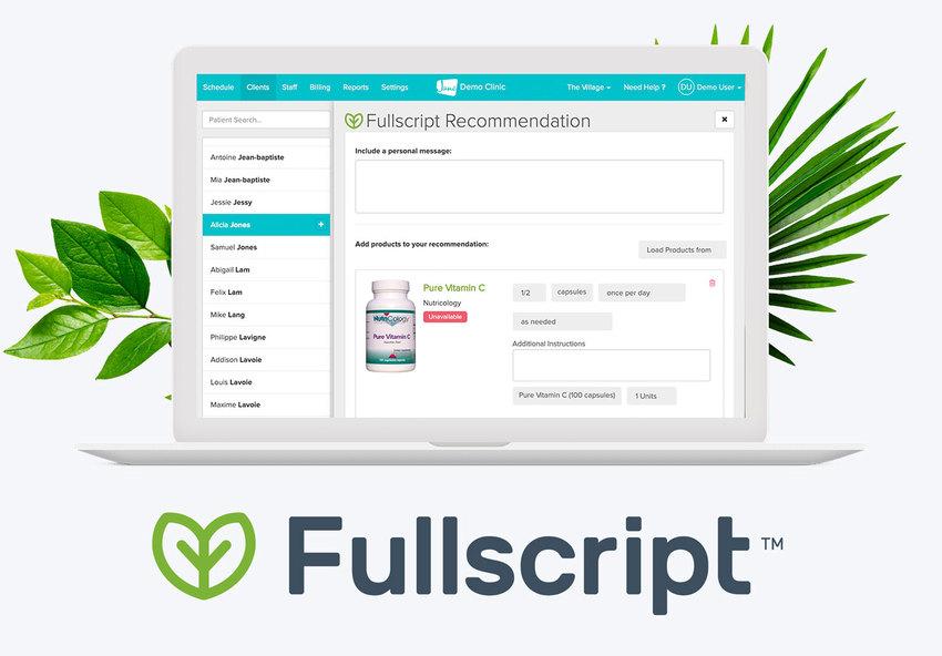 Fullscript shop for supplements online